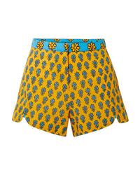 Short à fleurs jaune Rhode Resort