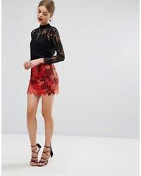 Short à fleurs rouge Glamorous