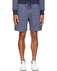 Short à rayures horizontales blanc et bleu marine Kenzo