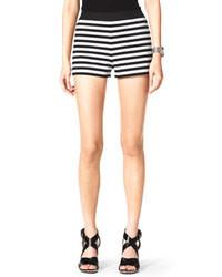 Short à rayures horizontales blanc et noir