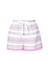 Short à rayures horizontales blanc Lemlem