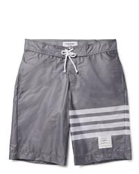 Short à rayures horizontales gris