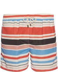 Short à rayures horizontales multicolore