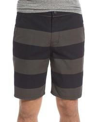 Short à rayures horizontales noir