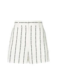 Short à rayures verticales blanc et noir MSGM