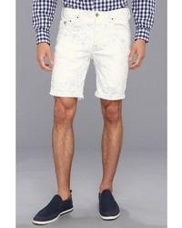 Short à rayures verticales blanc