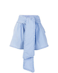 Short à rayures verticales bleu clair MSGM
