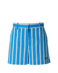 Short à rayures verticales bleu MSGM
