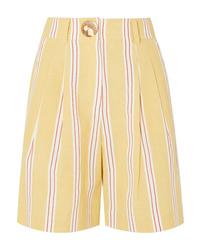Short à rayures verticales jaune Rejina Pyo
