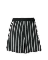 Short à rayures verticales noir et blanc Lanvin