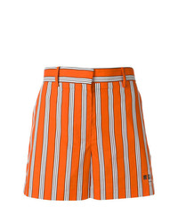 Short à rayures verticales orange MSGM
