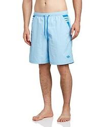 Short bleu clair adidas