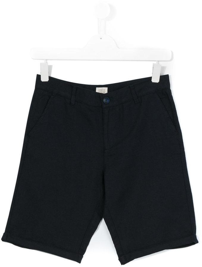 Short bleu marine Armani Junior