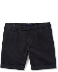 Short bleu marine Incotex