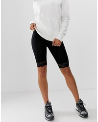 Short cycliste en dentelle noir ASOS DESIGN