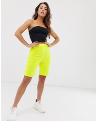 Short cycliste jaune Missguided