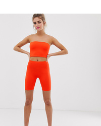 Short cycliste orange