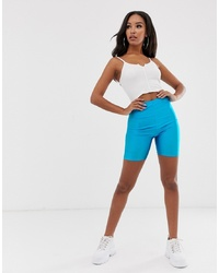 Short cycliste turquoise PrettyLittleThing