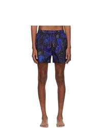Short de bain à fleurs bleu marine Paul Smith
