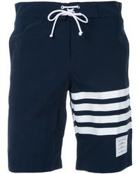 Short de bain à rayures horizontales bleu marine Thom Browne