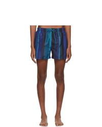 Short de bain à rayures verticales bleu marine Paul Smith