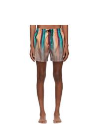 Short de bain à rayures verticales multicolore Paul Smith