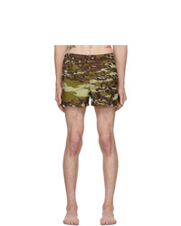 Short de bain camouflage olive Givenchy