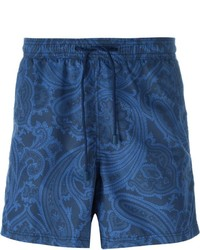 Short de bain imprimé bleu marine Etro