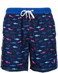 Short de bain imprimé bleu marine Paul & Shark