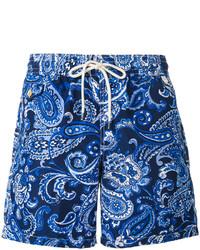 Short de bain imprimé cachemire bleu Polo Ralph Lauren