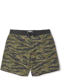 Short de bain imprimé olive Saint Laurent