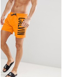 Short de bain imprimé orange Calvin Klein