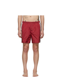 Short de bain imprimé rouge Gucci