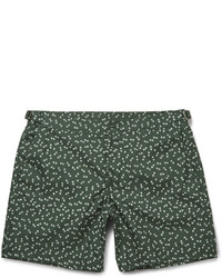 Short de bain imprimé vert foncé Dolce & Gabbana