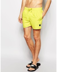 Short de bain jaune NATIVE YOUTH