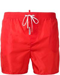 Short de bain rouge DSQUARED2