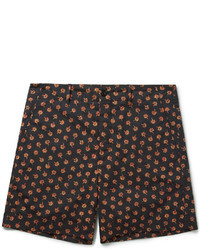 Short en coton à fleurs noir Gucci