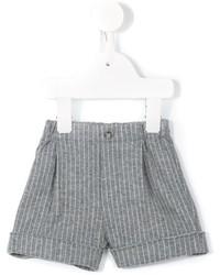 Short en coton à rayures verticales gris Il Gufo