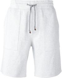 Short en coton blanc Brunello Cucinelli