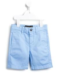 Short en coton bleu clair