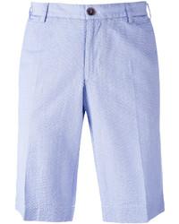 Short en coton bleu clair Canali