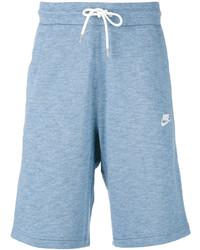 Short en coton bleu clair Nike