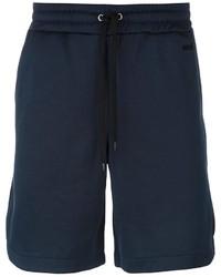 Short en coton bleu marine AMI Alexandre Mattiussi