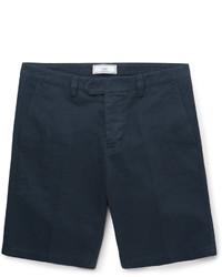 Short en coton bleu marine Ami