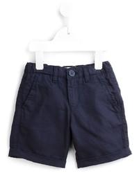 Short en coton bleu marine Armani Junior