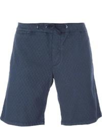 Short en coton bleu marine Eleventy