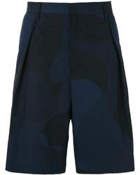 Short en coton bleu marine Emporio Armani