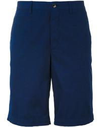 Short en coton bleu marine Ermenegildo Zegna