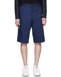 Short en coton bleu marine Givenchy