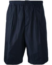Short en coton bleu marine Marni